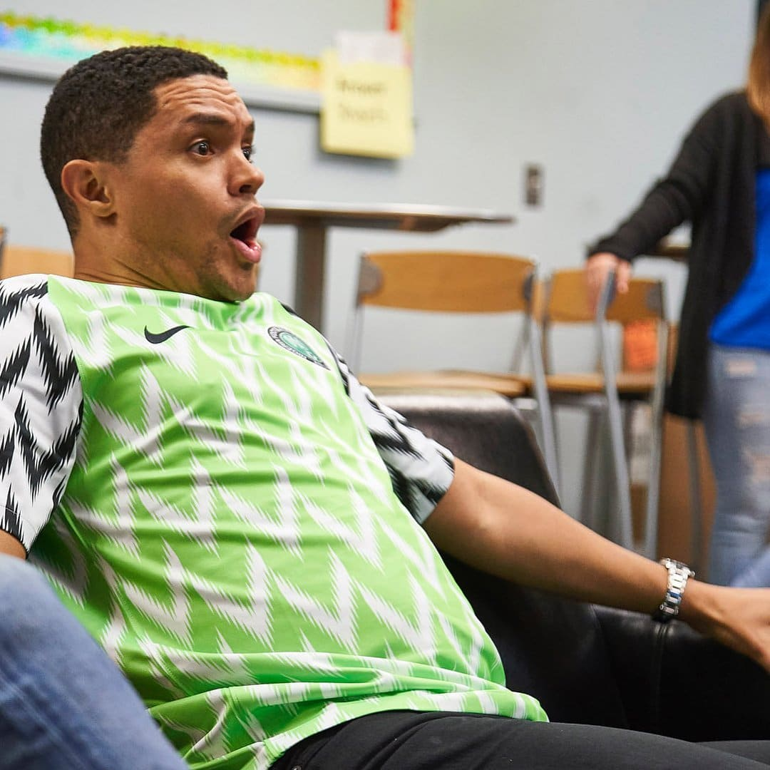 How Trevor Noah reacted while watching the Nigeria Vs Argentina game