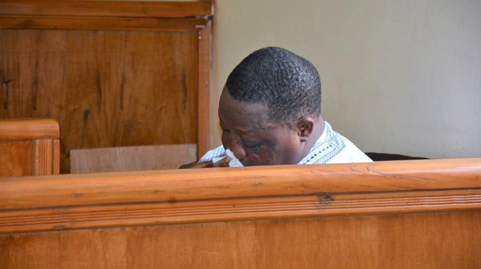 Photo of Ex Plateau State Gov, Joshua Dariye, weeps after being sentenced for 14 years (Photos)
