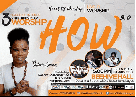 Photo of Worship with Victoria Orenze THIS SUNDAY, July 1st, at HEART OF WORSHIP | #HOW2018