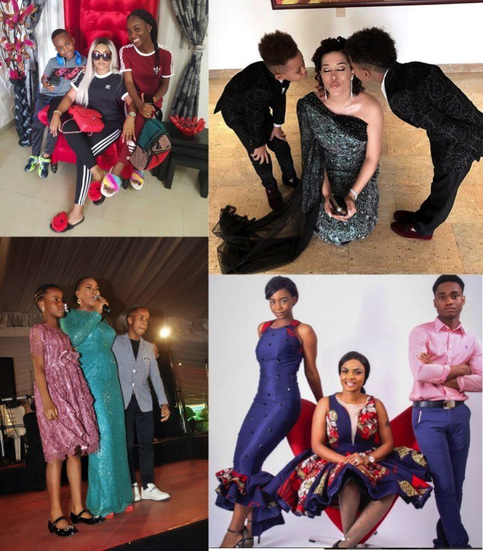 Photo of 10 Nigerian Actresses playing the 'father role' for their Children