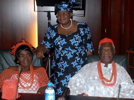 Photo of Ngozi Okonjo-Iweala's father celebrates his 90th birthday