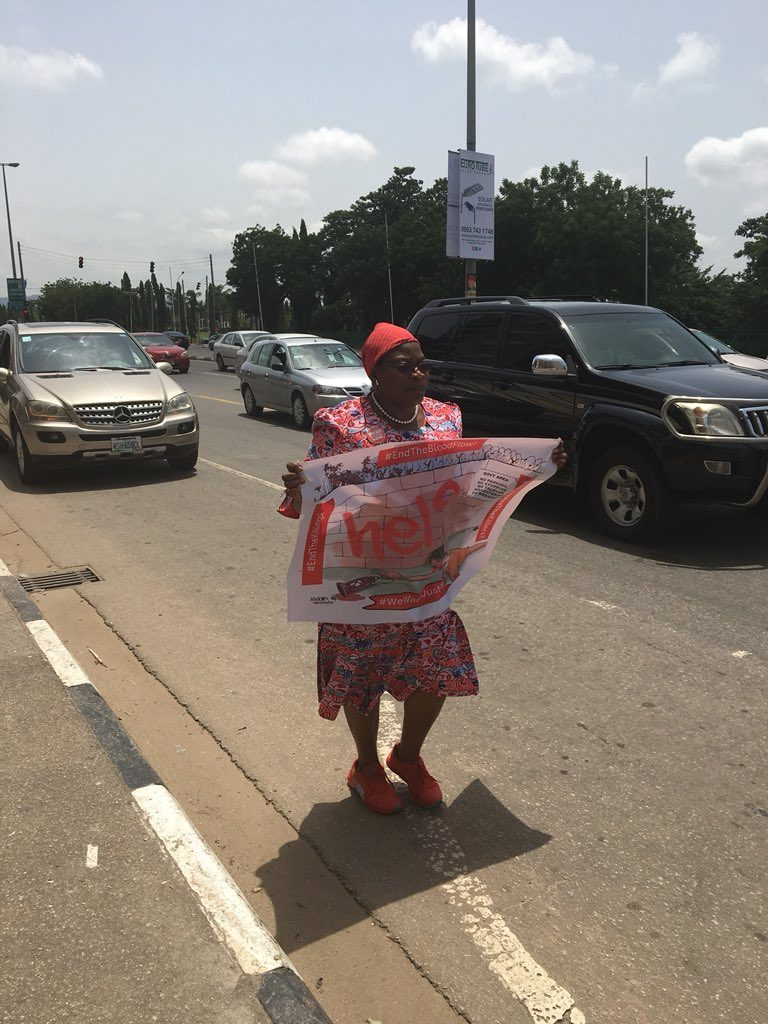 Security agents harass Oby Ezekwesili as she protests alone over Plateau killings