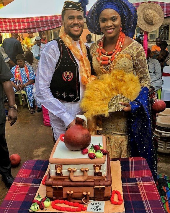Photos from the traditional wedding of actor Michael Okon and Kosi Obialor