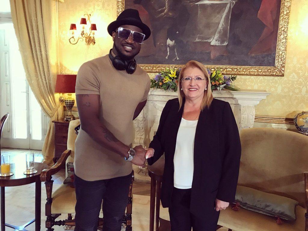 Peter Okoye meets with president of Malta ahead of Europe tour