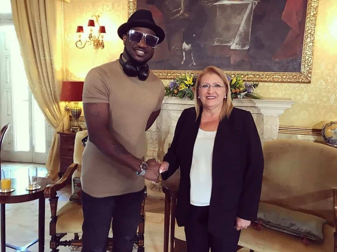 Photo of Peter Okoye meets with president of Malta ahead of Europe tour