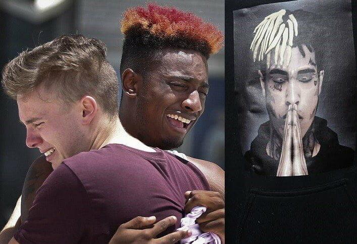 xxxtentacion fans shed tears at the opencasket memorial