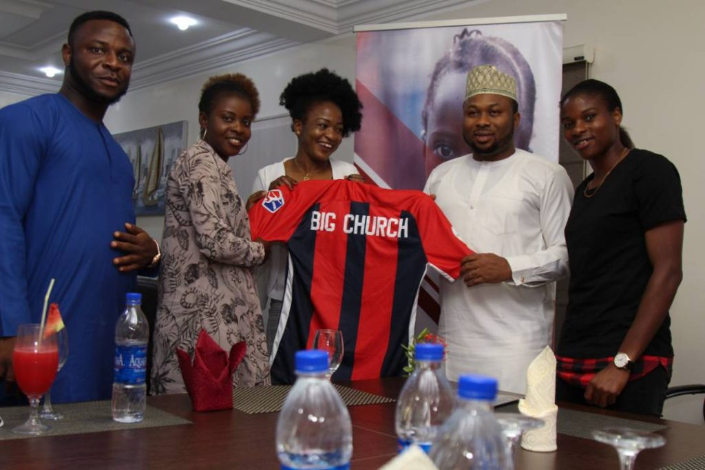 Olakunle Churchill signs Super Falcons players as foundation ambassadors