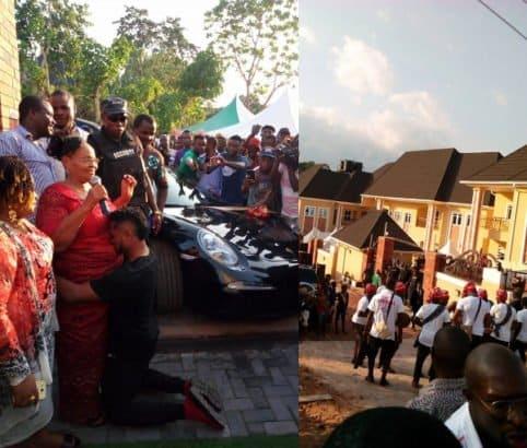 Nigerian footballer, Ofoedu buys his mother a Porsche car as Assurance