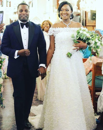 Photos from the wedding of former Ekiti state governor's daughter