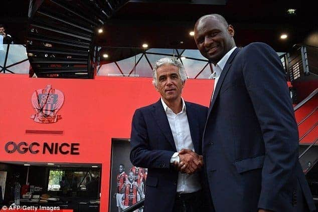 Patrick Vieira becomes manager of French Ligue 1 side, Nice