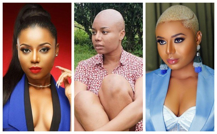 Photo of Actress and TV host, Nancy Isime shaves off her hair for a movie role with Jim Iyke