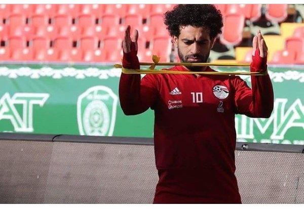 Mohamed Salah training hard to stay fit for Egypt's first world cup game (Photos)