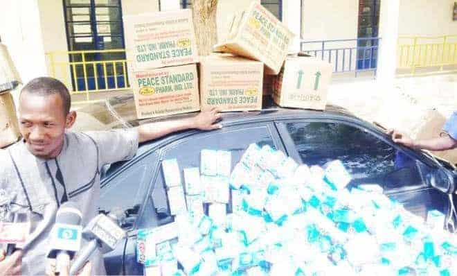 Man arrested with 300 bottles of codeine in Katsina state