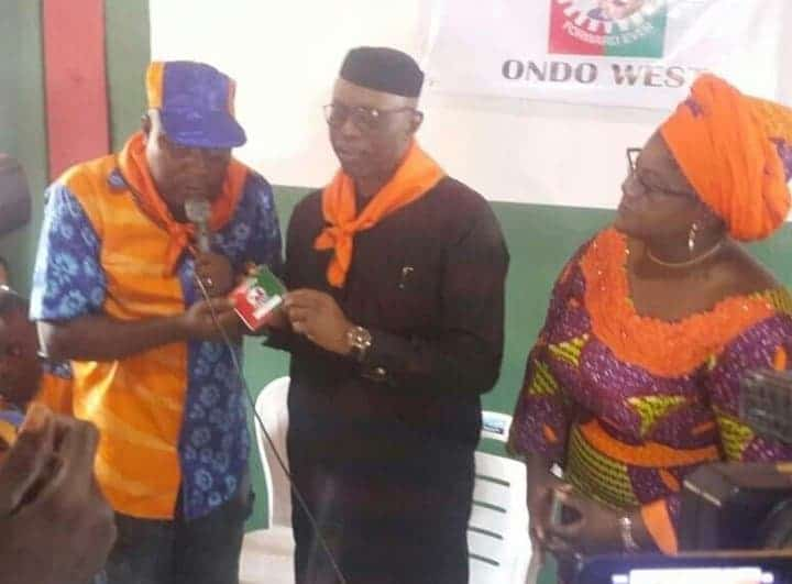The moment ex-governor of Ondo state, Olusegun Mimiko returned to Labour Party