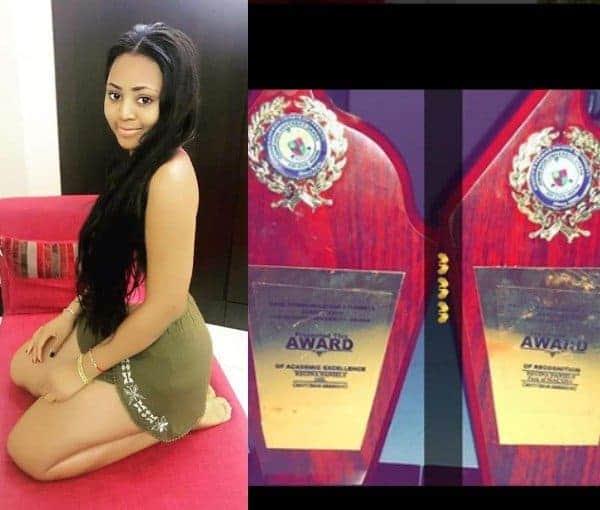 Actress Regina Daniels bags two awards in Igbinedion University