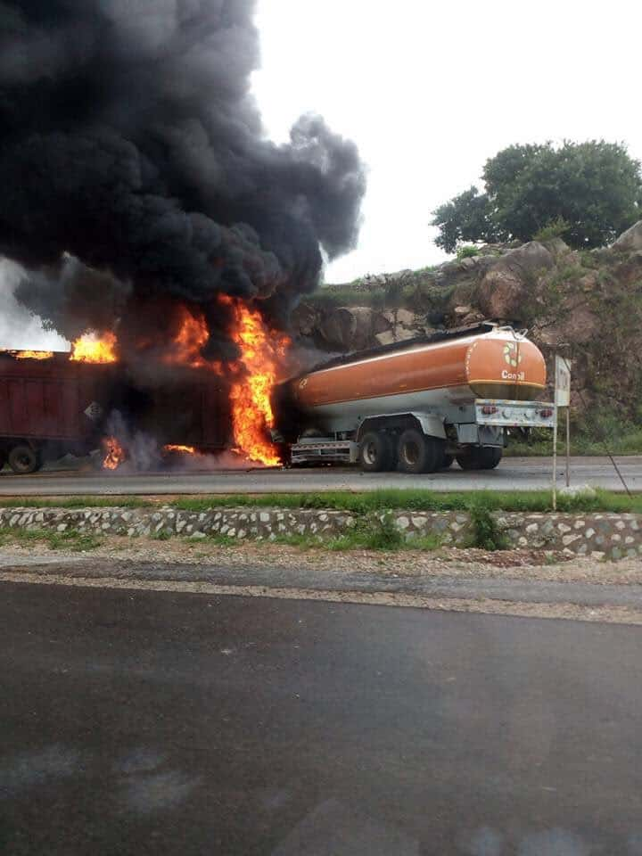 Photo of Five confirmed injured in today's Suleja-Minna tanker fire