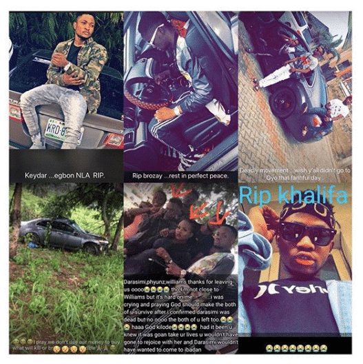 Photo of Nigerian rapper, 2 others die while returning from friend's graduation thanksgiving