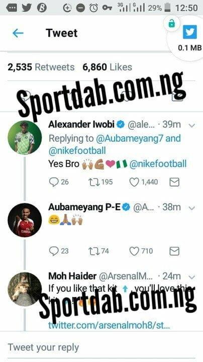 Aubameyang begs Alex Iwobi