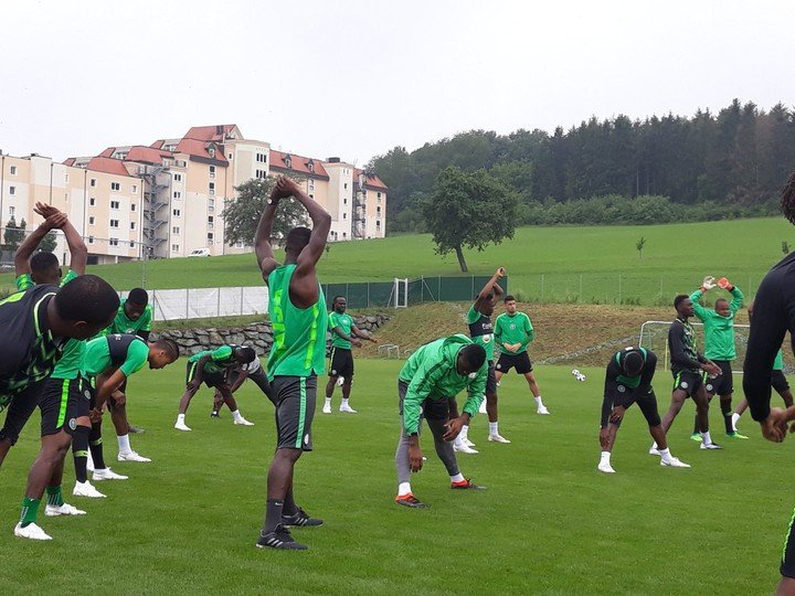 Super Eagles players training ahead of Russia 2018 world cup