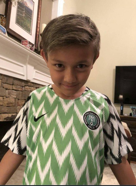 cf9c372c8 Below are pictures of some foreigners rocking the Super Eagles jersey.