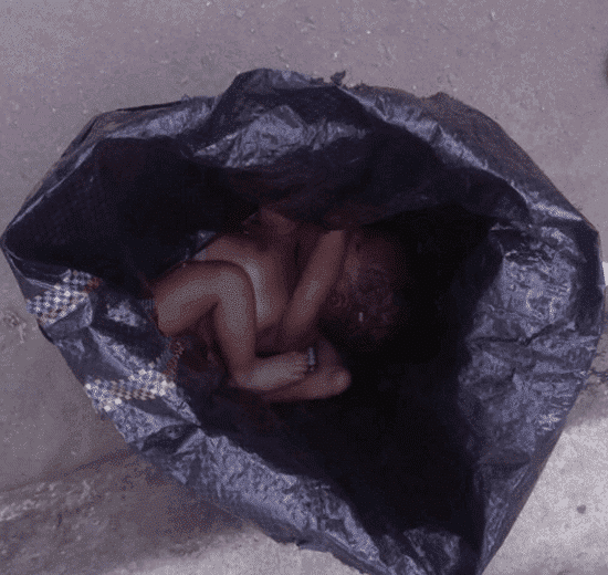 Pictures of a newborn baby found dead in River state