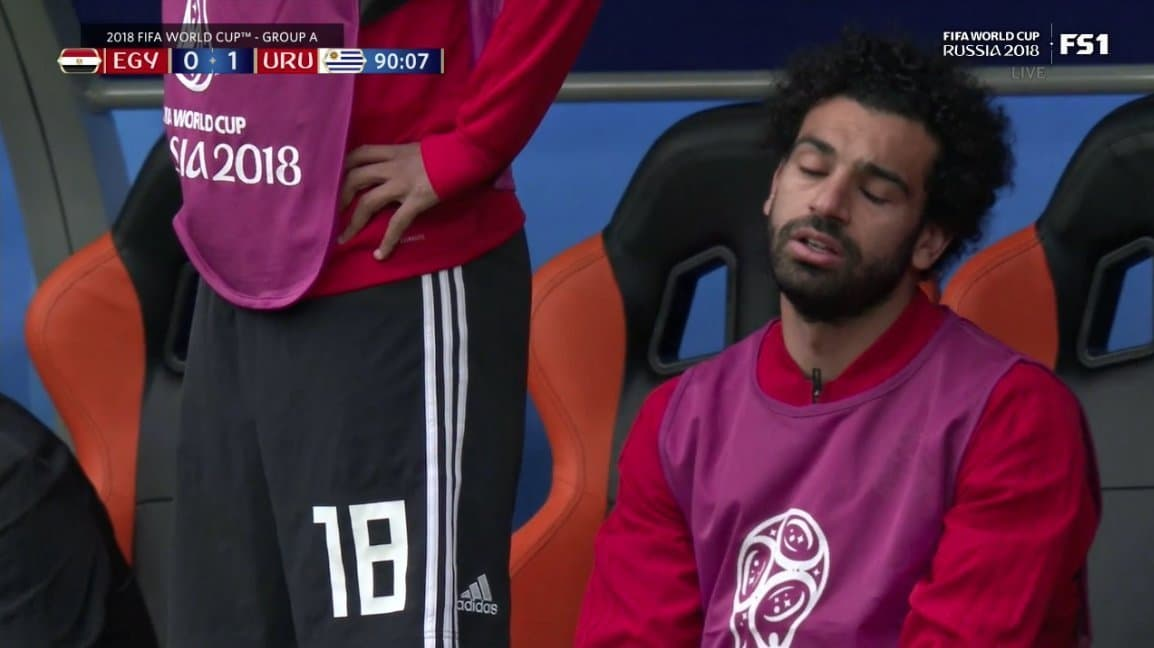 Photo of 2018 World Cup: Mohamed Salah watched from the bench as Egypt lost to Uruguay 0-1