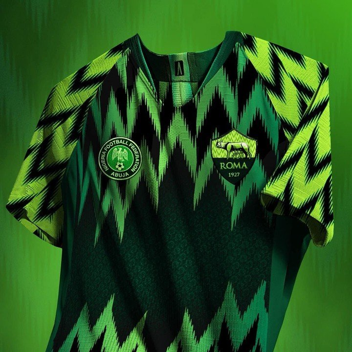 2018 World Cup: AS Roma adopts Super Eagles design for their next jersey