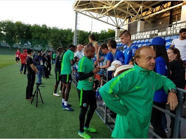 Photo of Super Eagles begin their first training in Russia (Photos)