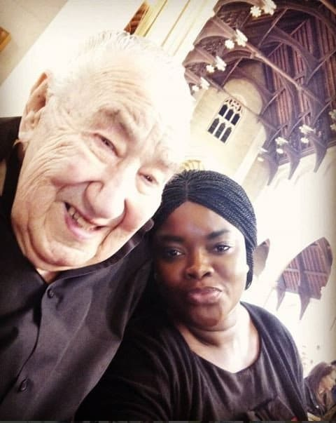 Ghanaian lady married to a 90 year old white man slams her critics