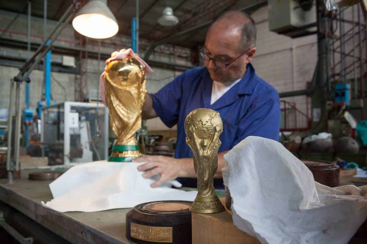How the FIFA world cup trophy is made in Italy (Photos)