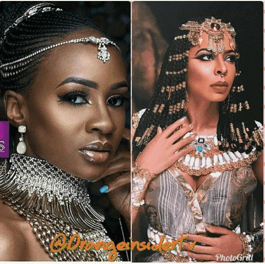 Photo of Who rocked it better: BBNaija Anto and Tboss rock Egyptian look