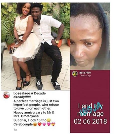 Photo of Actress Bose Alao returns to her abusive marriage days after leaving