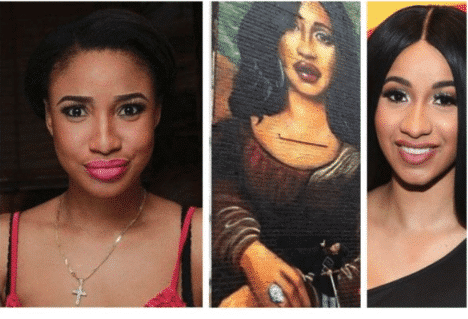 Photo of This wall painting of Cardi B in Brooklyn has a striking resemblance with Tonto Dikeh