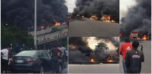 Photo of Update: Lagos tanker explosion: 9 dead, 53 vehicles burnt – LASEMA