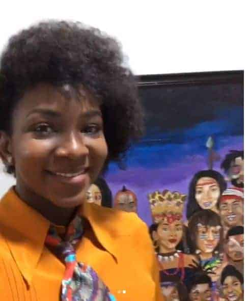 Genevieve Nnaji painting