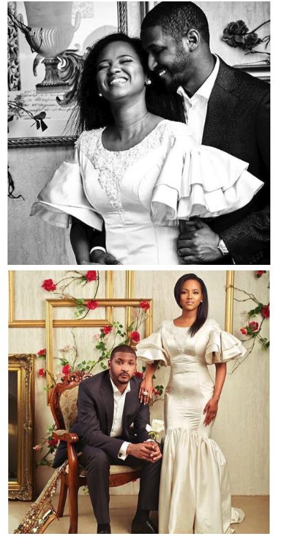 Hauwa Indimi and groom Mohammed Yar'Adua