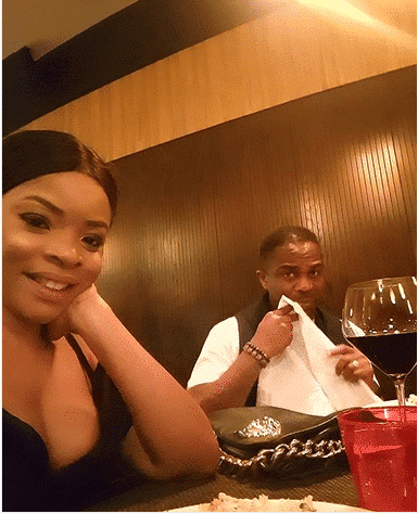 Laura Ikeji and husband celebrate father's day with dinner