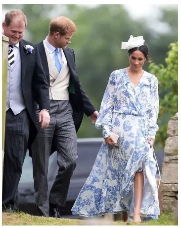 Photo of Meghan Markle and Prince Harry steal the show as they attend the wedding of Princess Diana's niece