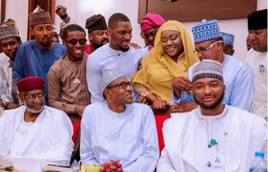 Photo of This is what Buhari told Kunle Afolayan, Small Doctor, others while breaking fast at Aso Villa