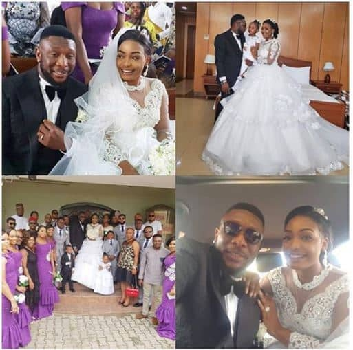 Photo of Tchidi Chikere and Nuella Njubigbo walk down the aisle 4 years after traditional wedding (photos)