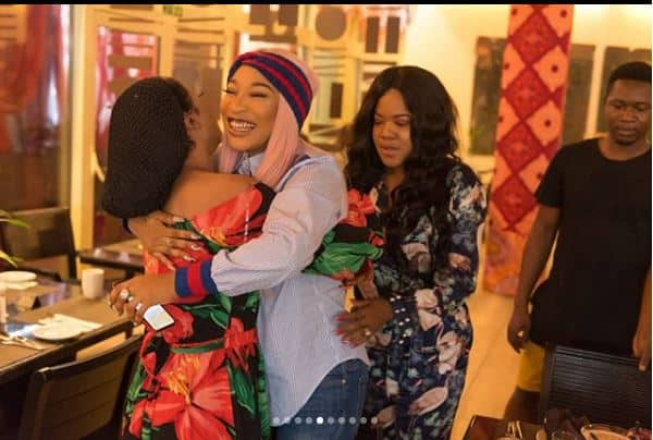 "Photo of ""A friend who scolds in private"" Toyin Abraham's beautiful birthday message to Tonto Dikeh"