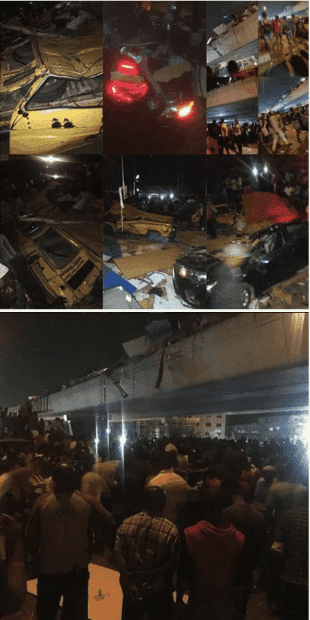 Photo of Many feared dead as plywood falls off Lagos bridge (Photos)
