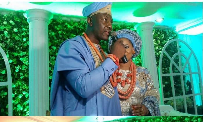Photo of Traditional wedding photos of ex-military leader, Yakubu Gowon's son, Musa to his Edo bride