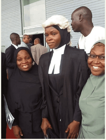 Photo of Amasa Firdausa finally called to bar in hijab by Nigerian Law School.(Photos)