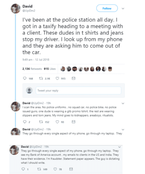 SARS officers harassed him