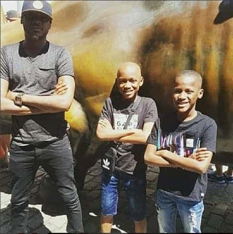 Photo of 2Face Idibia and his two sons with Sunmbo Adeoye, have fun in New York (Photos)