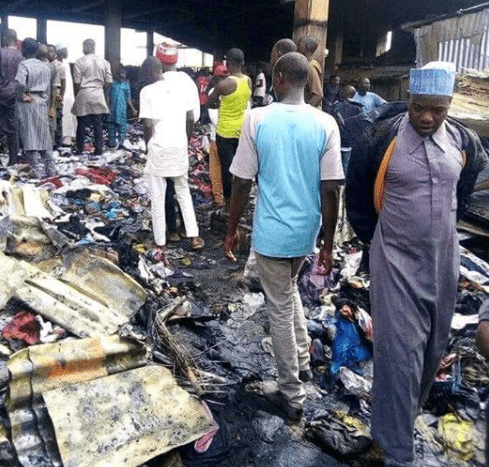 Photo of 270 shops destroyed as fire guts terminus market in Jos