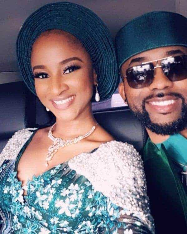 Photo of Banky W finally reacts to Wizkid's absence at his wedding to Adesua Etomi