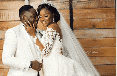 Photo of First photos from Comedian Ajebo's white wedding ceremony