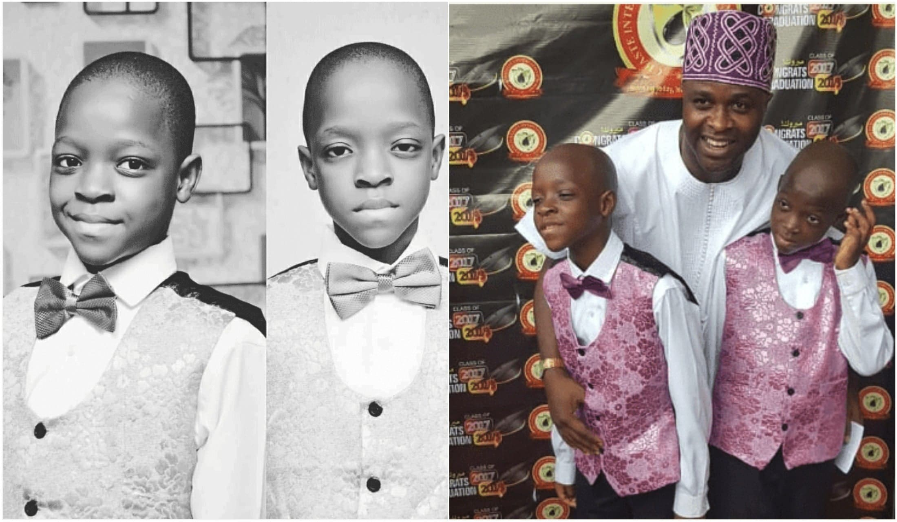Femi Adebayo celebrates his twin